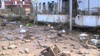 Rodi Garganico  – alluvione – fango sulla ferrovia