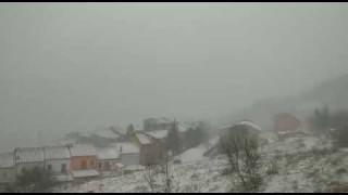 Neve d'aprile a Faeto e Roseto