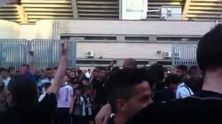 Diretta Bari-Foggia, maxischermo in via Lanza