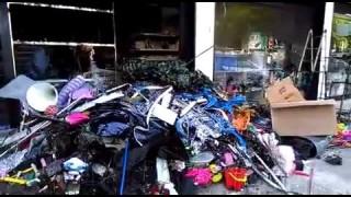 Foggia, a fuoco negozio cinese
