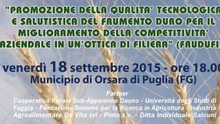 Orsara, il futuro dell'agroalimentare: tecnologia per qualità e salute