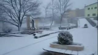 Anzano di Puglia imbiancata (video), Capitanata al gelo