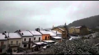 Faeto, la prima neve