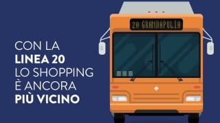 Al GrandApulia con l'autobus numero 20