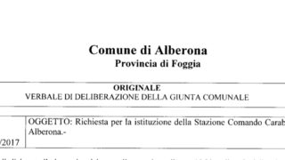 """Alberona nel mirino dei ladri, il sindaco: """"Si attivi in paese una Stazione dei Carabinieri"""""""
