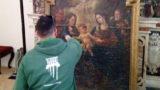 A Lucera il restauro della tela misteriosa