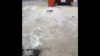Foggia, impressionante grandinata in zona Sofim