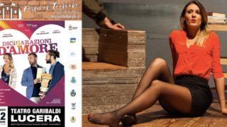 """Lucera, """"Dichiarazioni d'amore"""" al Teatro Garibaldi"""