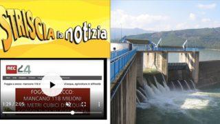 """Poca pioggia, i nuovi dati: """"meno 140milioni"""" di mc d'acqua nelle dighe di Capitanata e l'emergenza finisce su """"Striscia"""""""