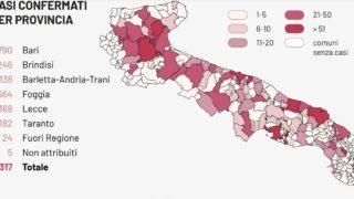 Coronavirus, 5 morti e 18 nuovi casi in Capitanata