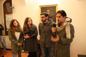 Luigi Vetere e gli attori del video vincitore